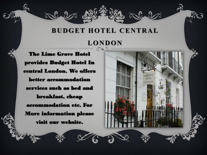 Budget hotel central london