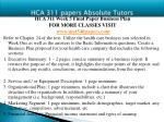 hca 311 papers absolute tutors14