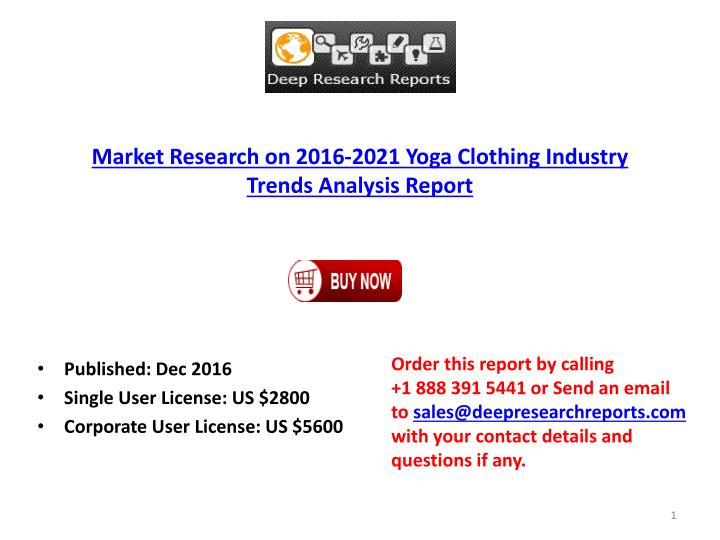 Market Research on 2016-2021