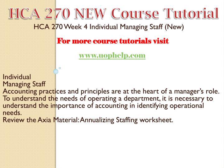 HCA 270 NEW