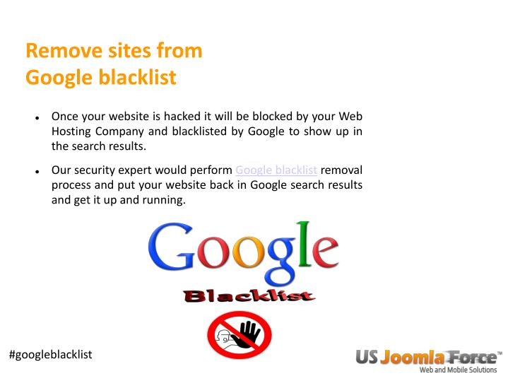Remove sites from