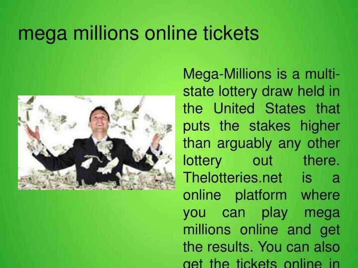 mega millions online tickets
