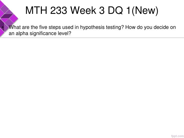 MTH 233 Week 3 DQ 1(New)