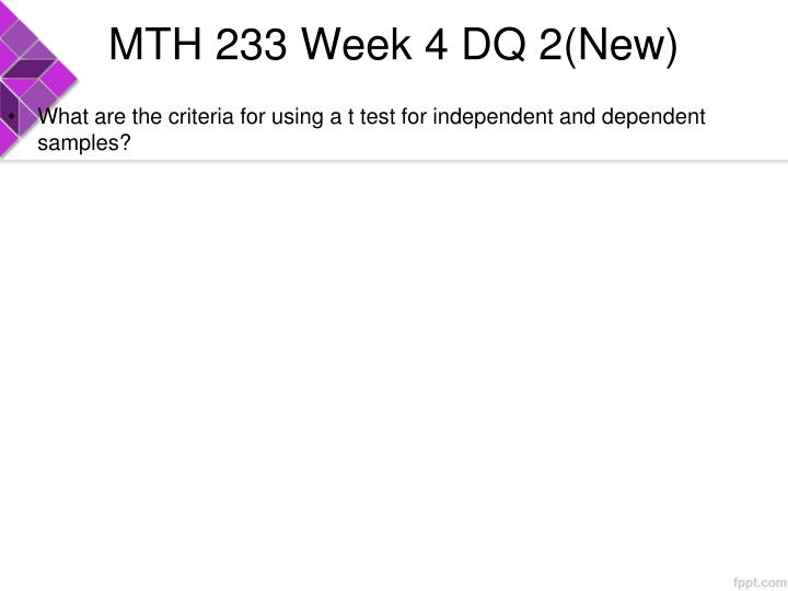 MTH 233 Week 4 DQ 2(New)