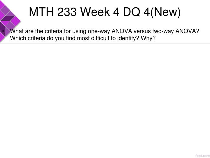 MTH 233 Week 4 DQ 4(New)