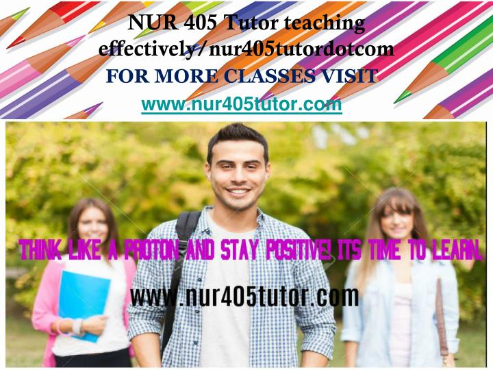 For more classes visit www nur405 tutor com