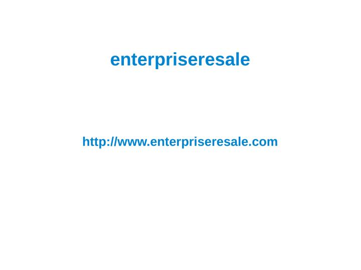 Enterpriseresale