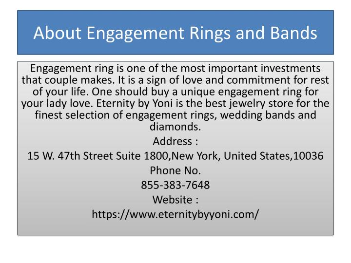 About engagement rings and bands