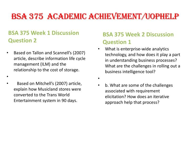bsa 375 wk one power point Soc/120 soc120 soc 120 week 2 assignment applying theory: environmental issues  applying theory: environmental issues - latest  one.