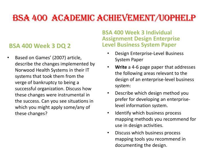 design enterprise level business system