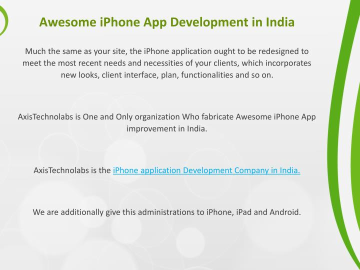 Awesome iPhone App Development in India