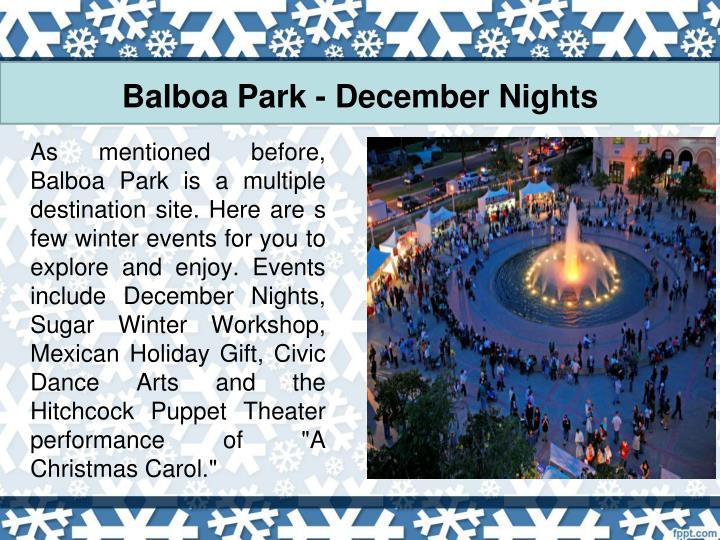 Balboa Park - December Nights