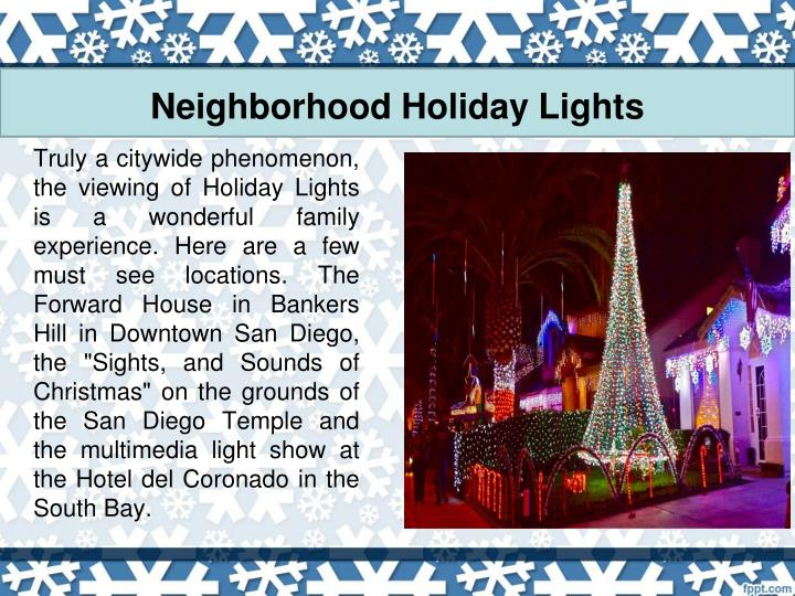 Neighborhood Holiday Lights
