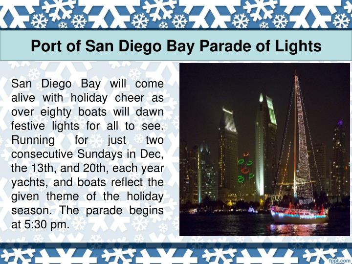 Port of san diego bay parade of lights