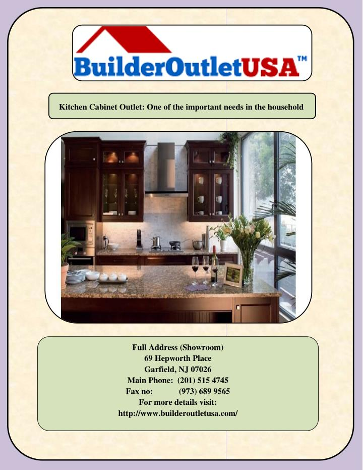 Kitchen Cabinet Outlet: One of the important needs in the household