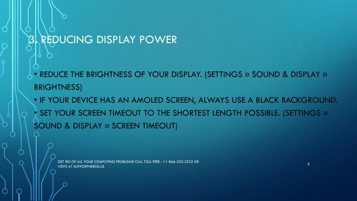 3. Reducing display power