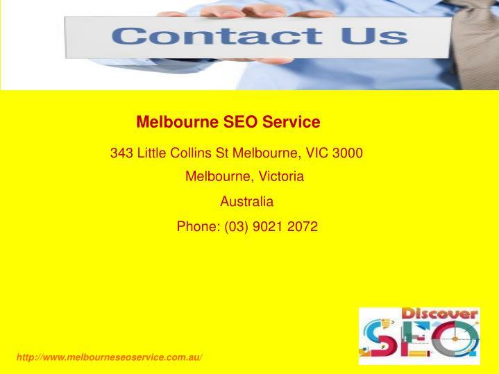 Melbourne SEO Service