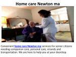 home care newton ma