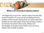 what is the meaning of obesity surgery