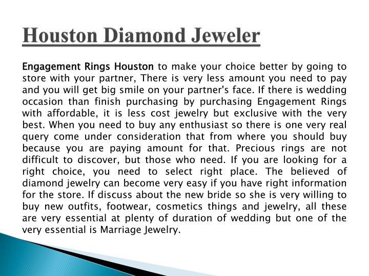 Houston Diamond Jeweler