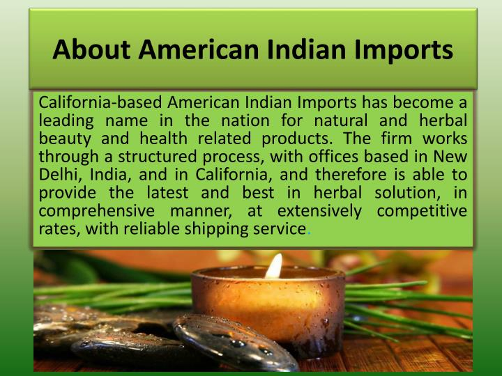About american indian imports