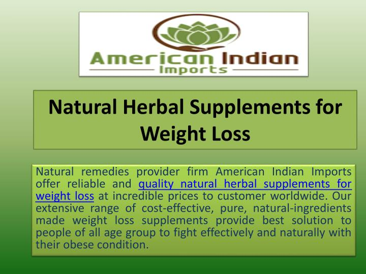 Natural herbal supplements for weight loss