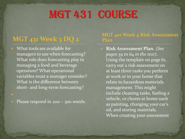 MGT 431