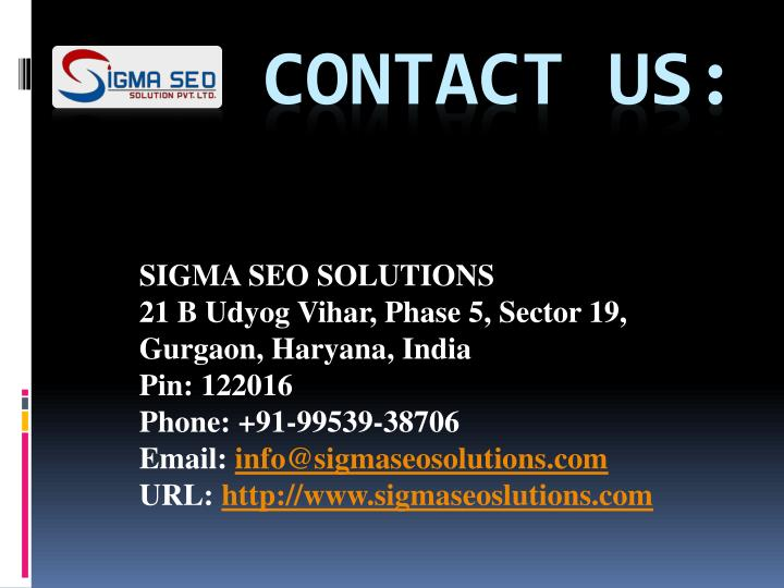 SIGMA SEO SOLUTIONS