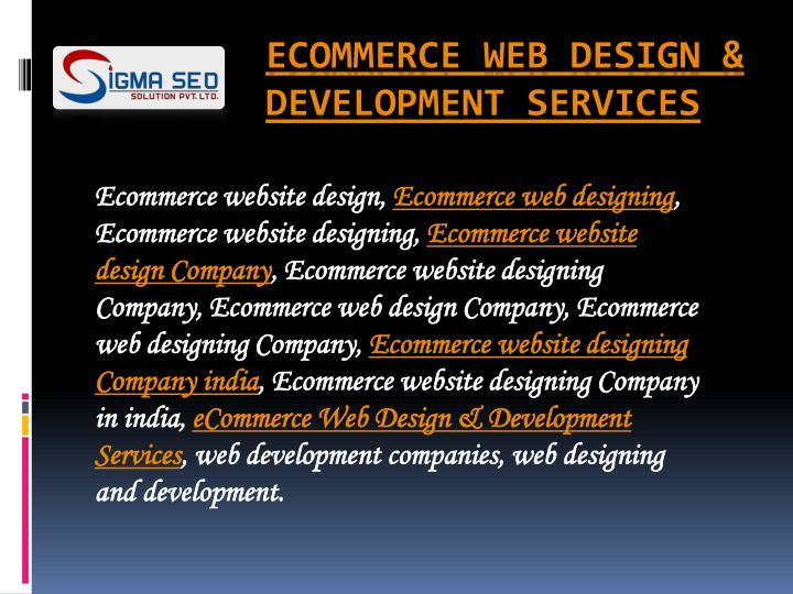 Ecommerce website design,