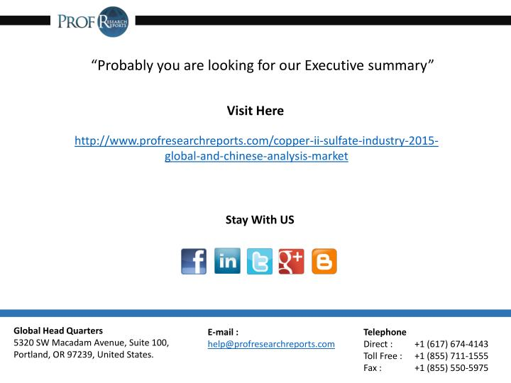 """""""Probably you are looking for our Executive summary"""