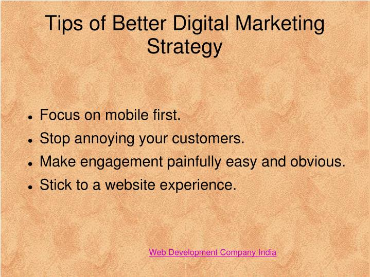 Tips of Better Digital Marketing Strategy