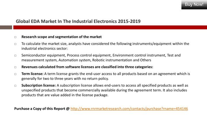 Global EDA Market In The Industrial Electronics 2015-2019