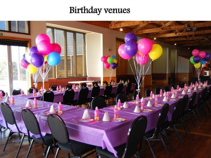 Birthday venues