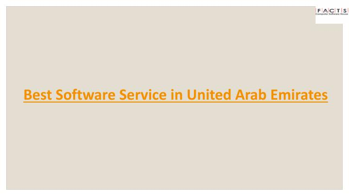 Best Software Service in United Arab Emirates