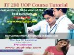 it 280 uop course tutorial
