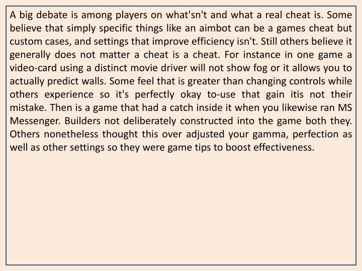A big debate is among players on