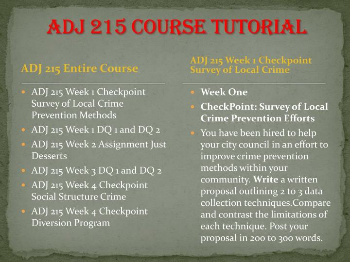 ADJ 215 Course