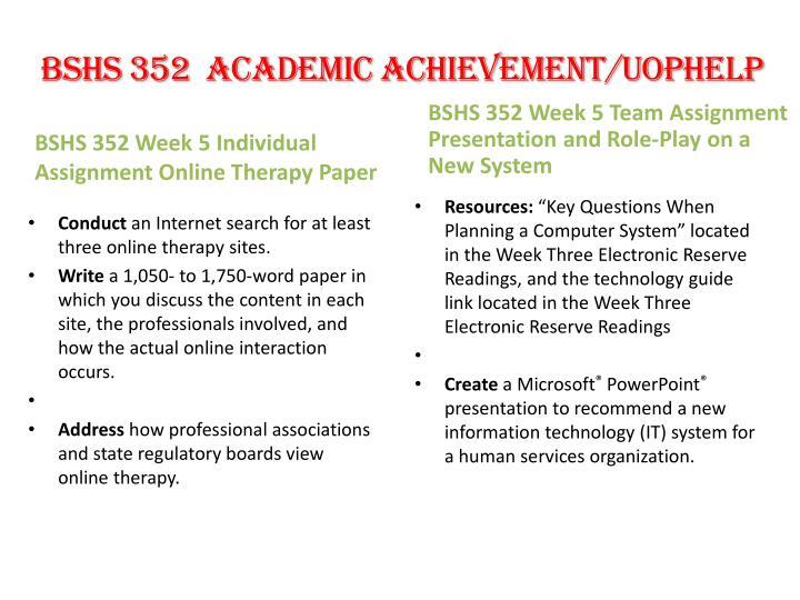 BSHS 352