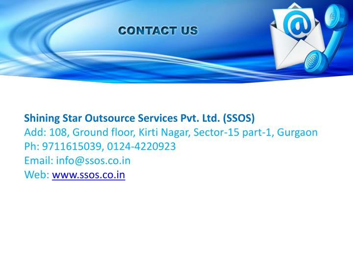 Shining Star Outsource Services Pvt. Ltd. (SSOS)