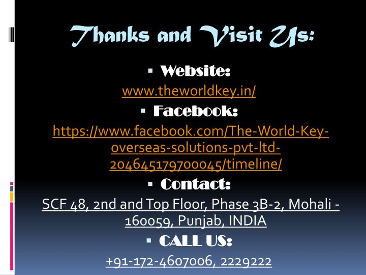 Thanks and Visit Us: