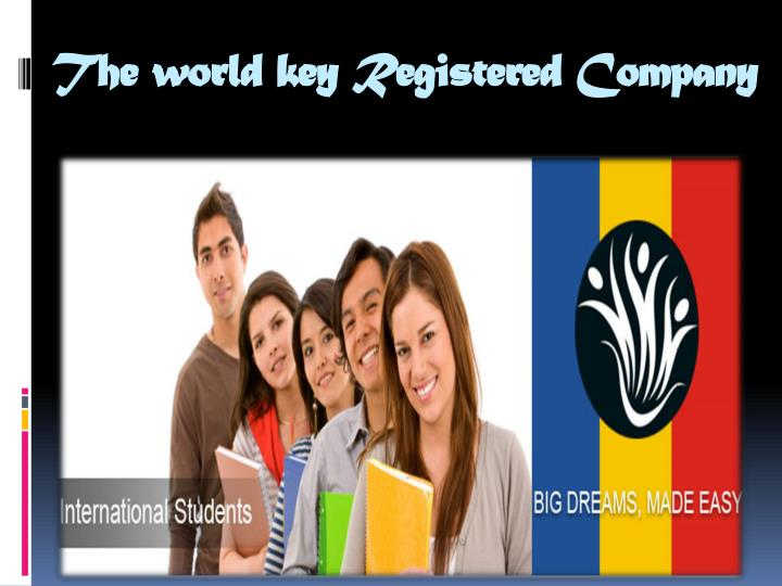 The world key registered company