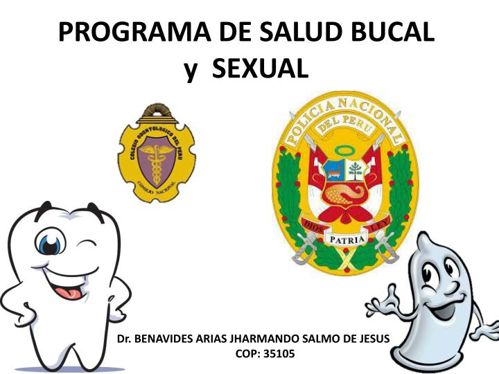Programa de salud bucal y sexual