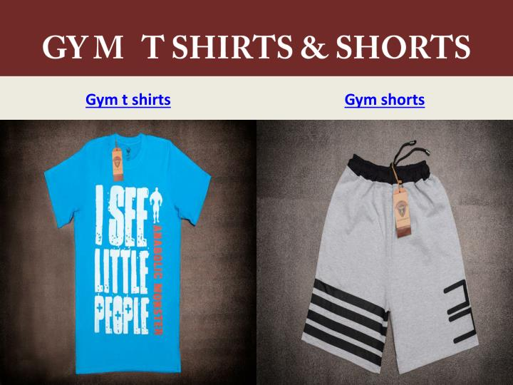 GY M   T SHIRTS & SHORTS