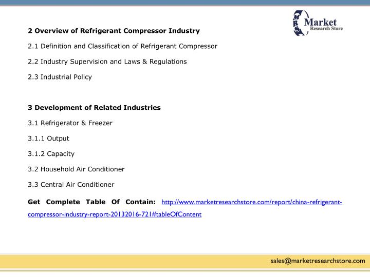 2 Overview of Refrigerant Compressor Industry