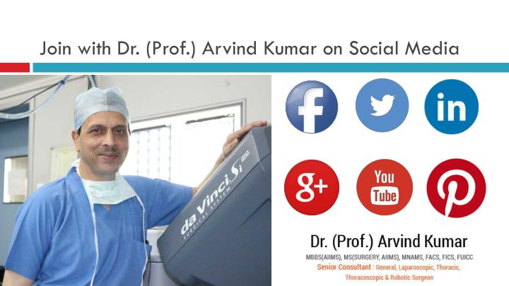 Join with Dr. (Prof.) Arvind Kumar on Social Media