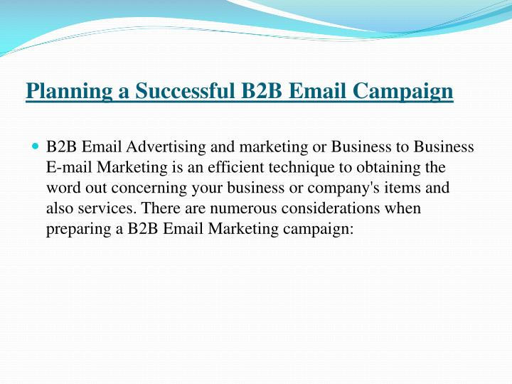 Planning a Successful B2B Email Campaign