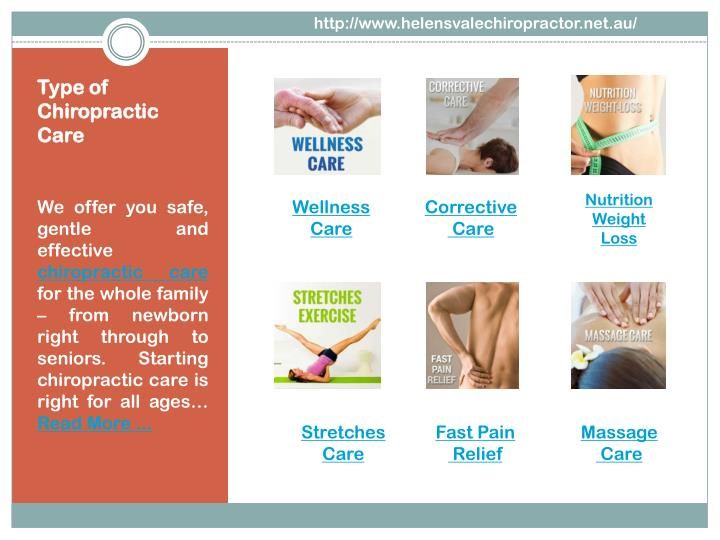 Type of chiropractic care