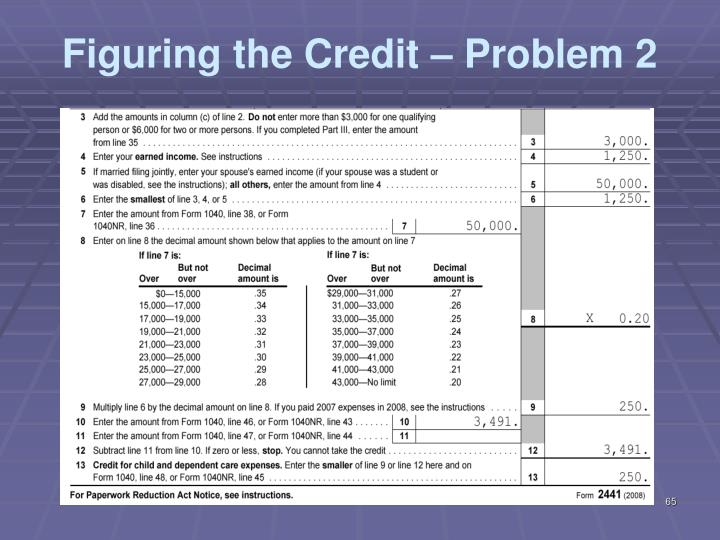 Figuring the Credit – Problem 2
