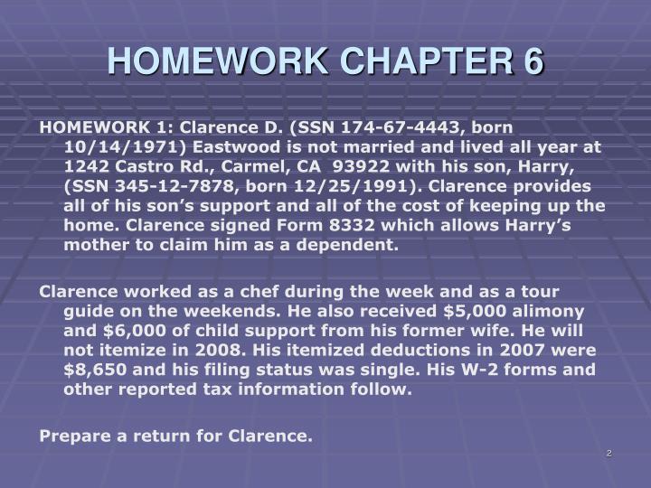 HOMEWORK CHAPTER 6