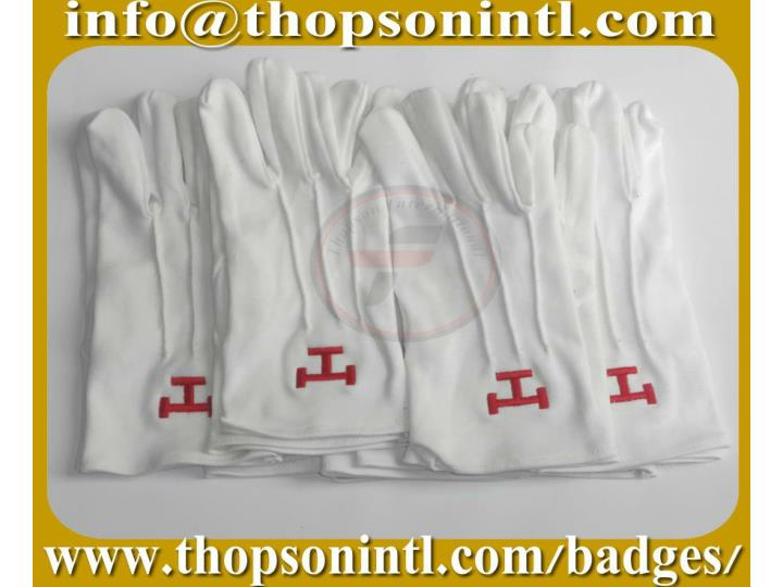 Masonic cotton gloves royal arch emblem 7282175